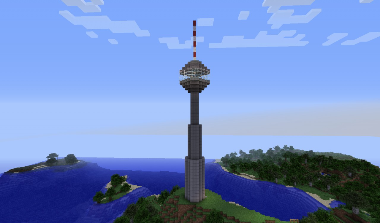 berlin tv tower berliner fernsehturm minecraft project. Black Bedroom Furniture Sets. Home Design Ideas