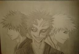 "Bleach drawing ""The Battle Within"" Minecraft Blog Post"