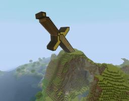 Golden God Sword Minecraft Map & Project