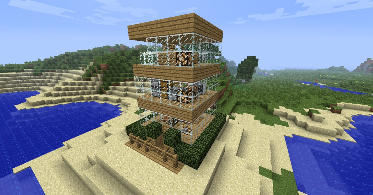 6x6 house minecraft project for Modern house 6x6