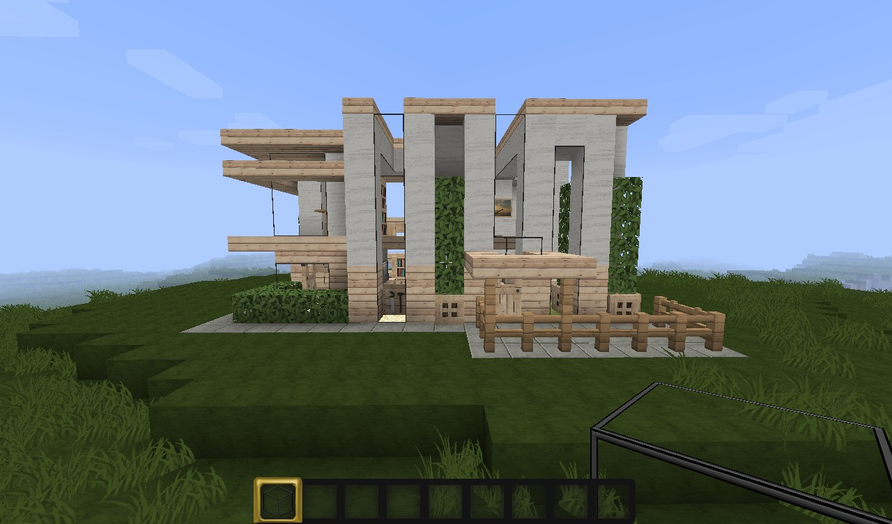 Minecraft Small Modern House Project