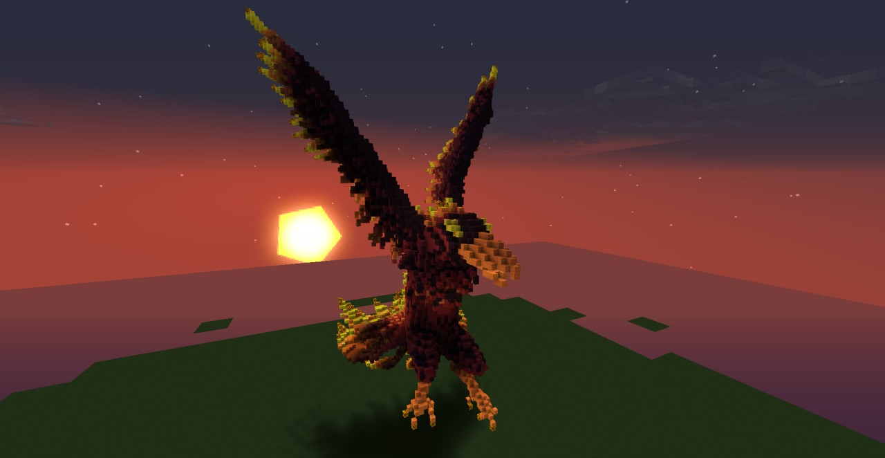 How To Build A Dragon Statue Minecraft