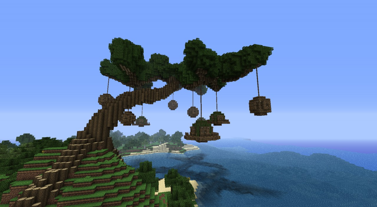 how to make trees wave minecraft
