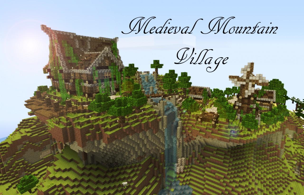 Minecraft Mountain Side House Design