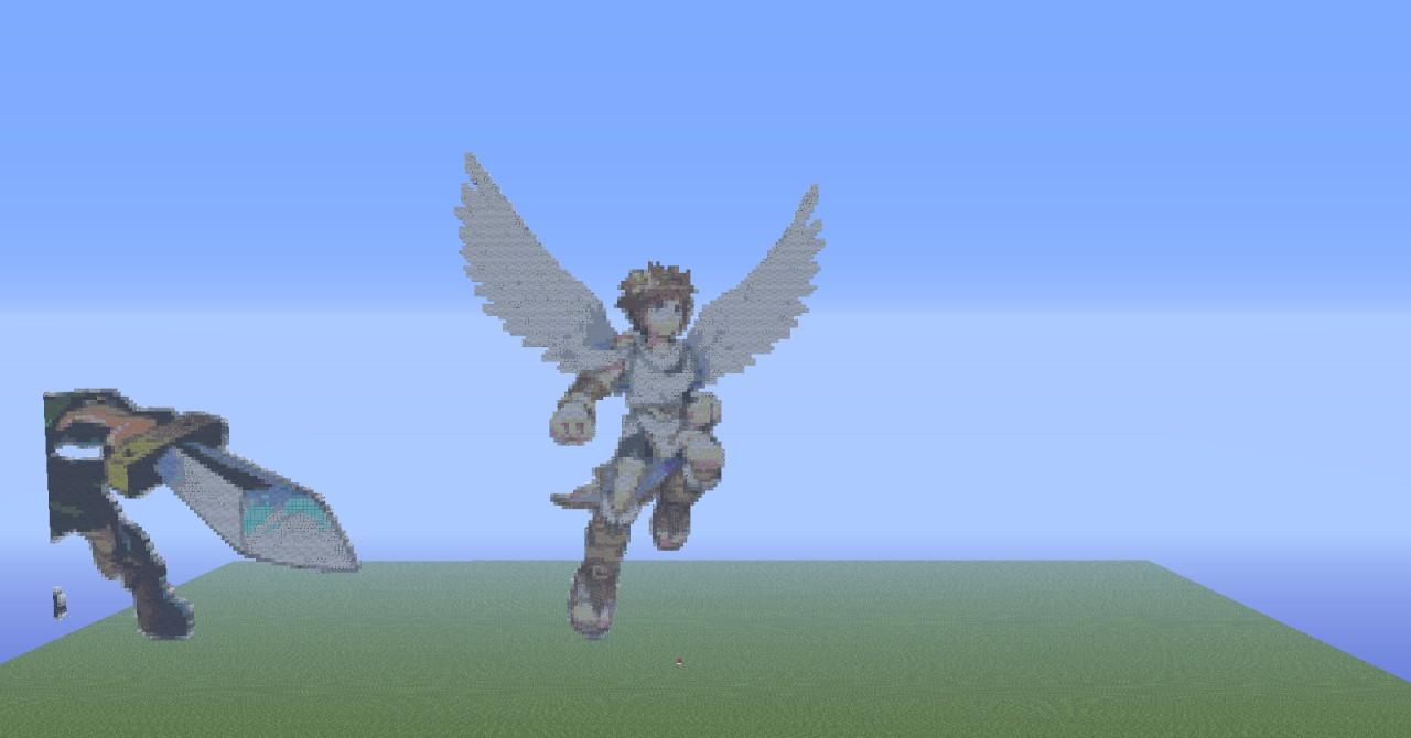 Kid Icarus In Pixel Art Minecraft Project
