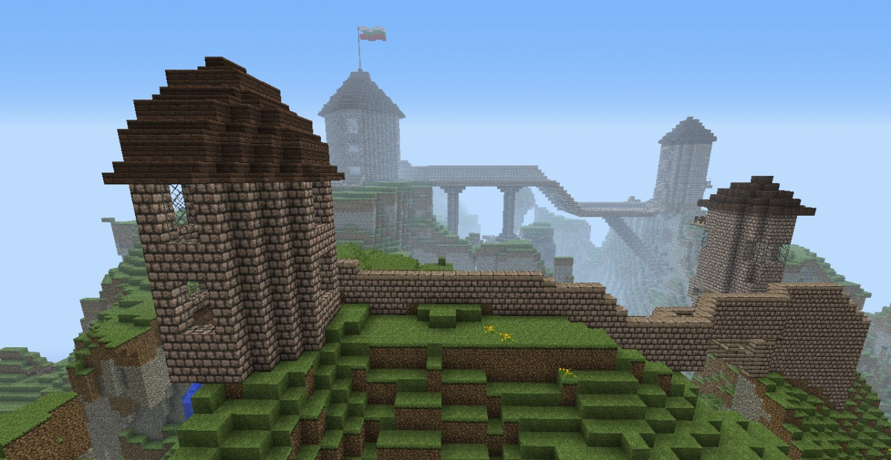 Amazing Castle on a mountain seed Minecraft Project
