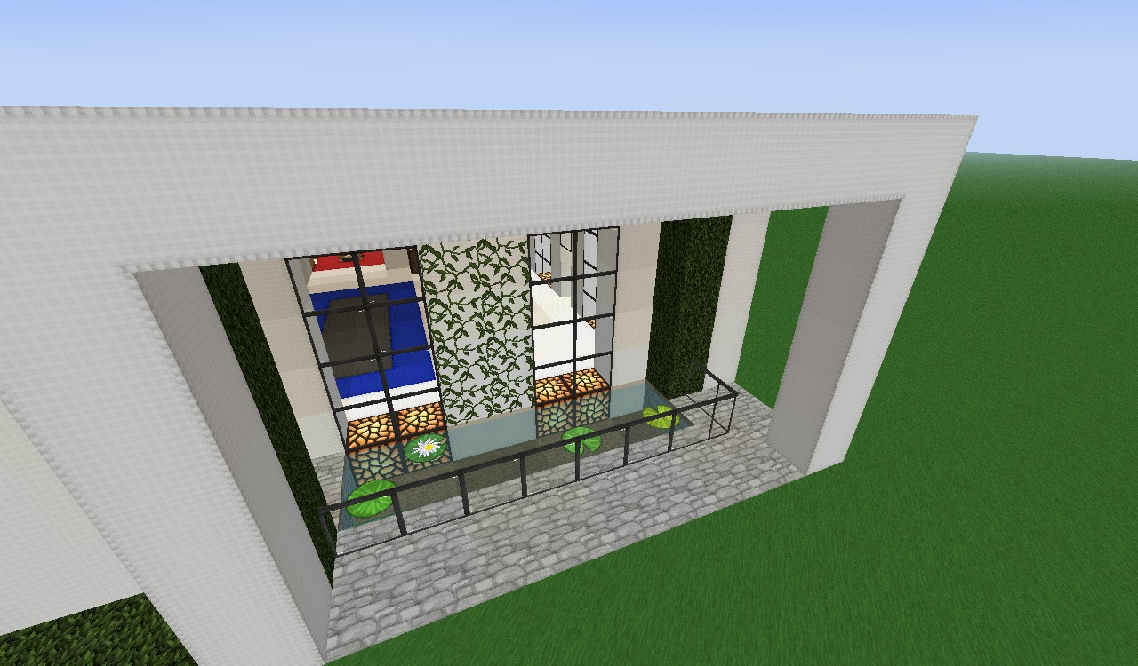 small modern house design Minecraft Project