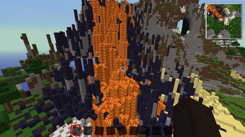 Volcano part of the map
