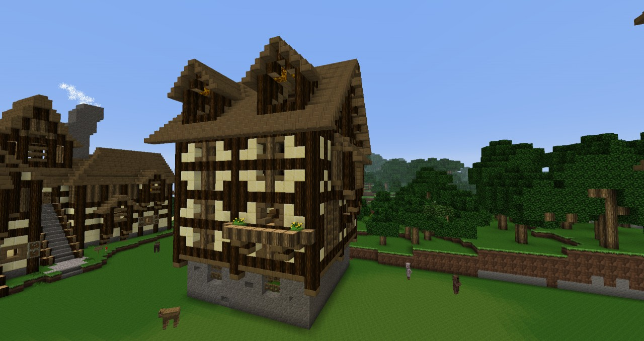 Medieval Houses Schematic Minecraft Project