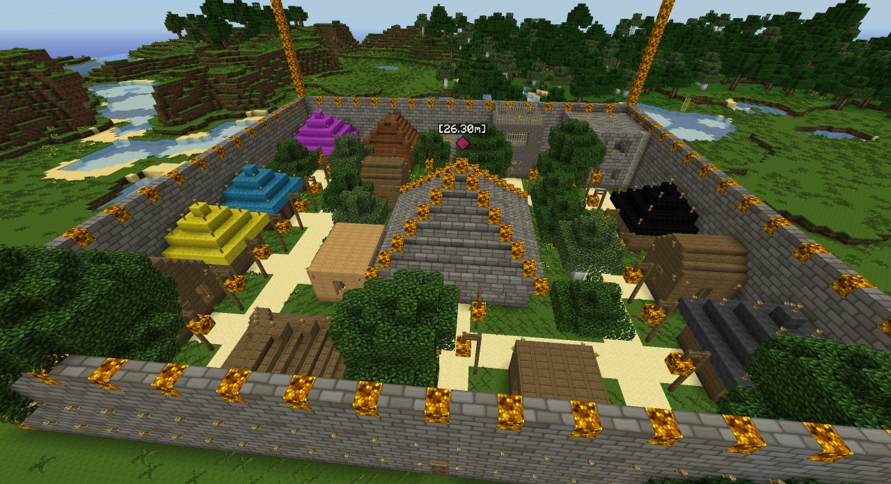 minecraft how to create a village