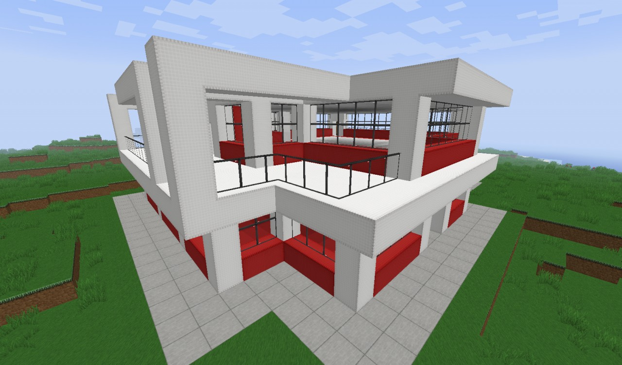 Small simple modern house minecraft project for Simple modern tiny house