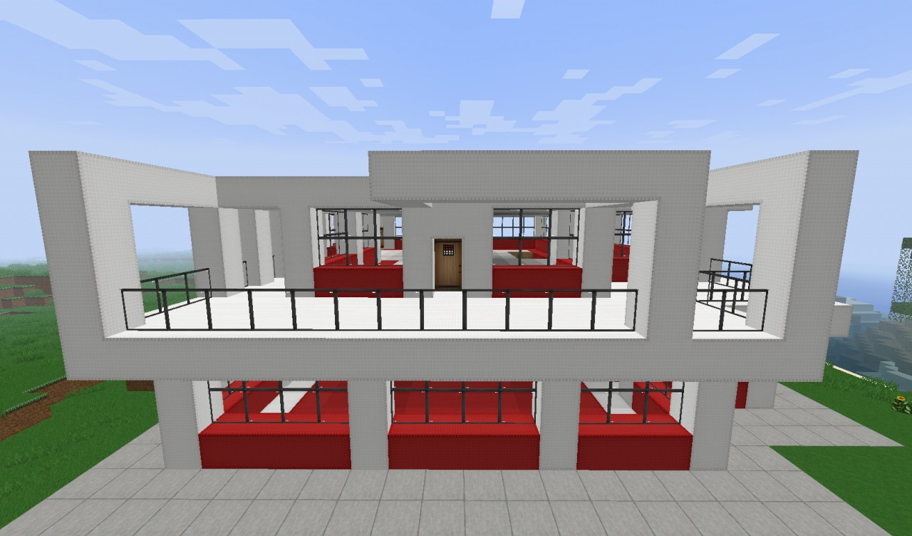 Small simple modern house minecraft project - Simple modern house ...
