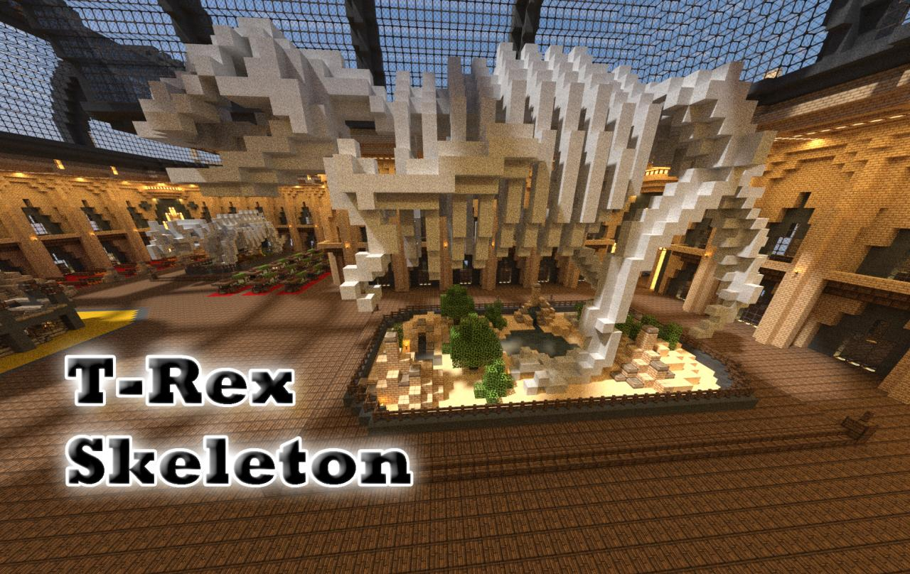 minecraft t rex skeleton