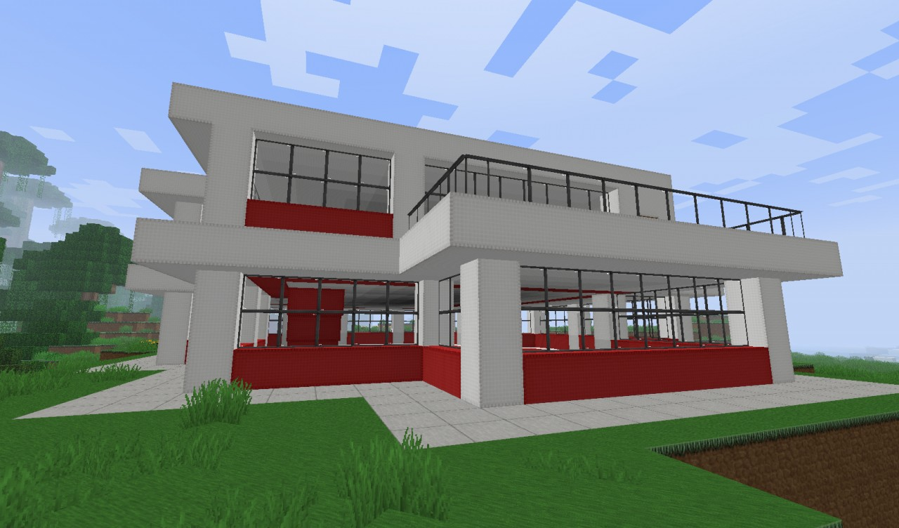 Small simple modern house minecraft project for Modern house projects