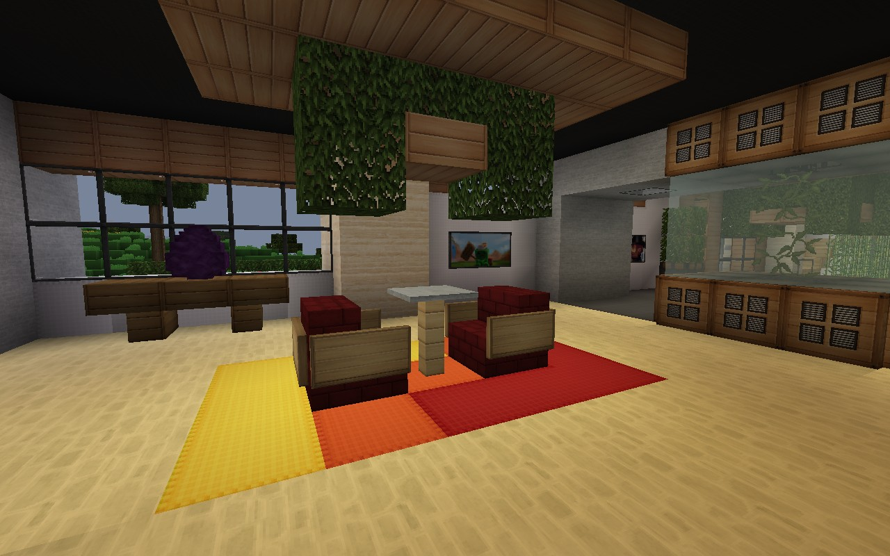 De stijl 1 maddison heights mansion minecraft project for Minecraft coffee table