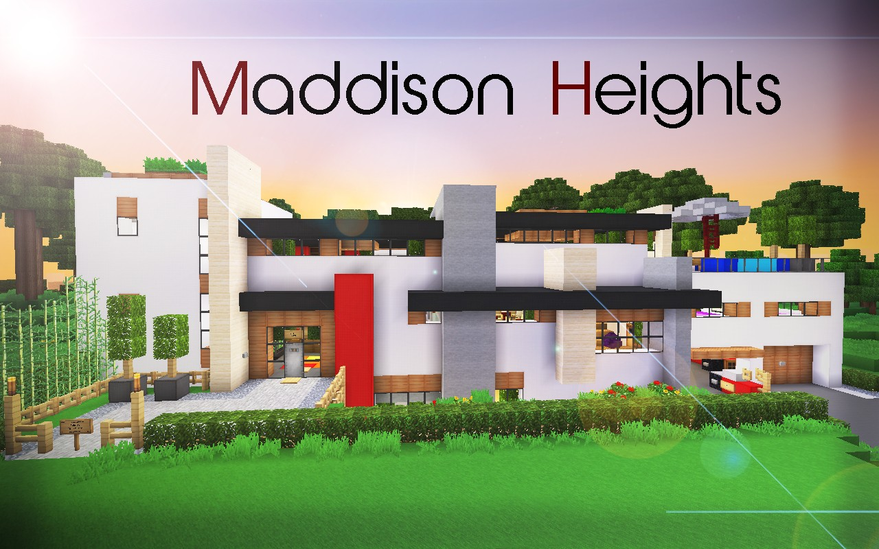 De Stijl 1 Maddison Heights Mansion Minecraft Project