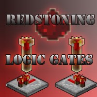 MineCraft Logic Gates- Minecraft Redstoning.