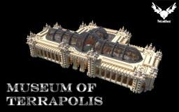 Skeleton Museum of Terrapolis, 3 dinosaurs [Angel Block app] Minecraft
