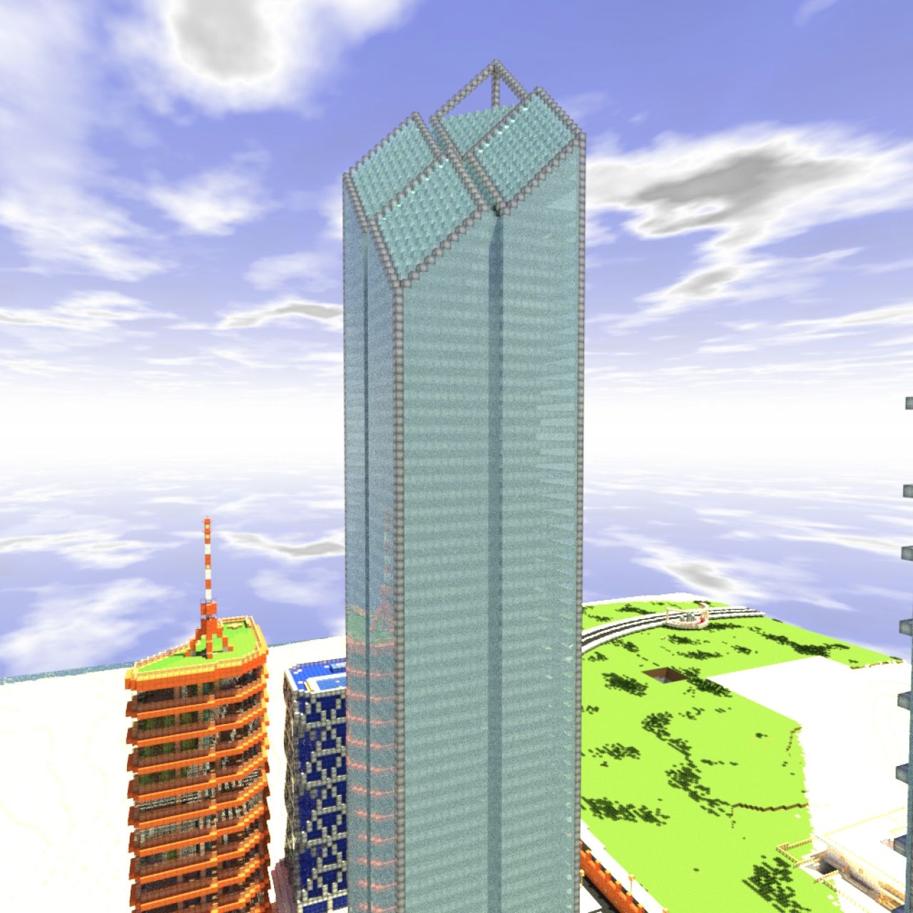 Image gallery new twin towers minecraft for 2 world trade center