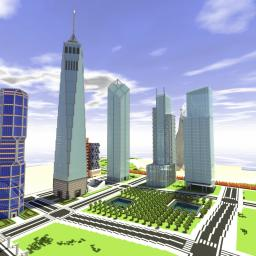 The New World Trade Center (Complex An Exact Replica!) Minecraft Map & Project