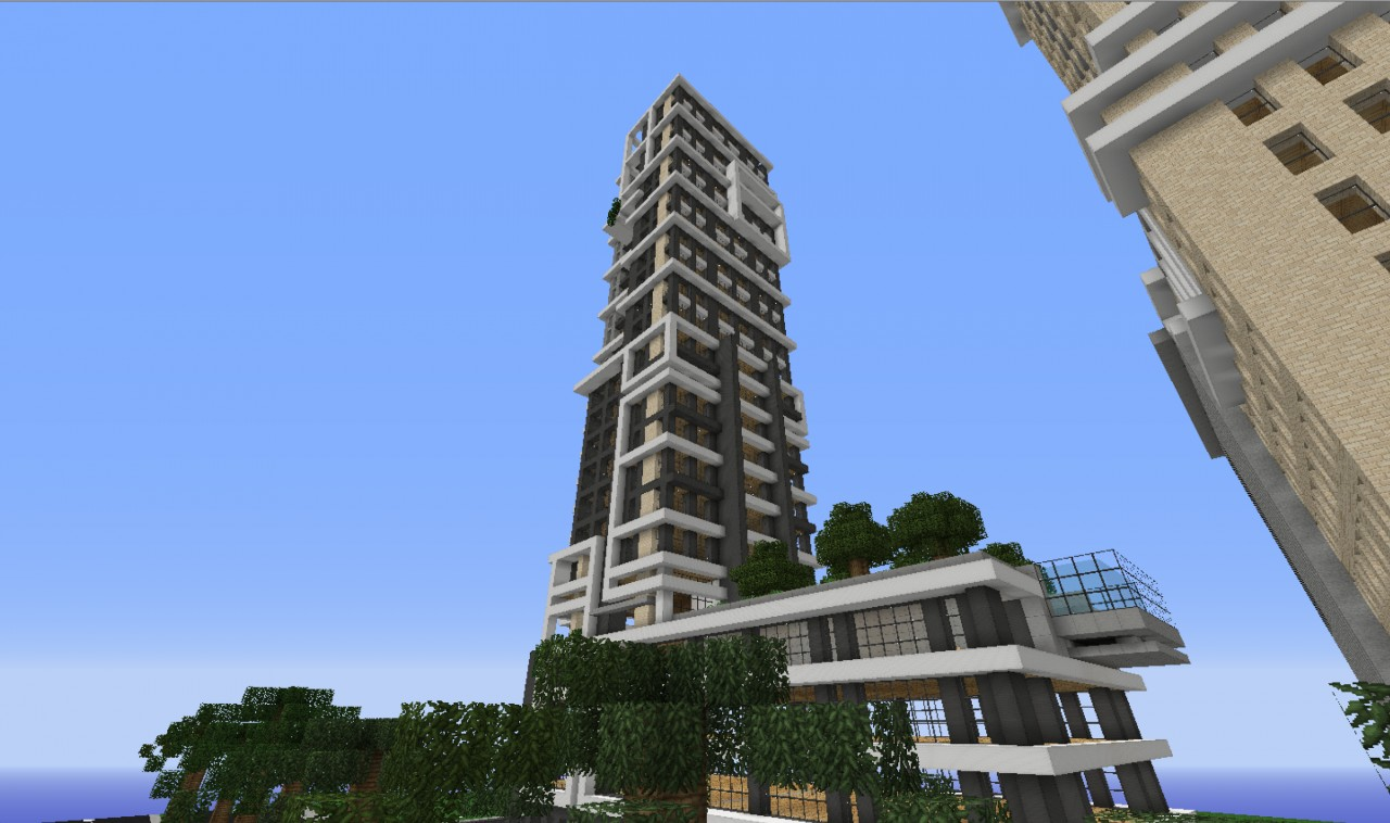 Modern Skyscraper Alington Hotel Minecraft Project