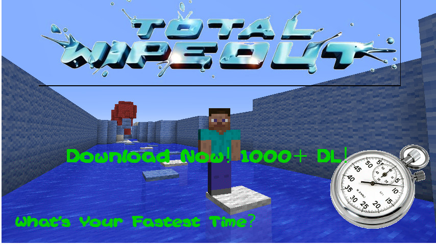 The Full Total Wipeout Course In Minecraft! 1000DL+ Total Minecraft Project