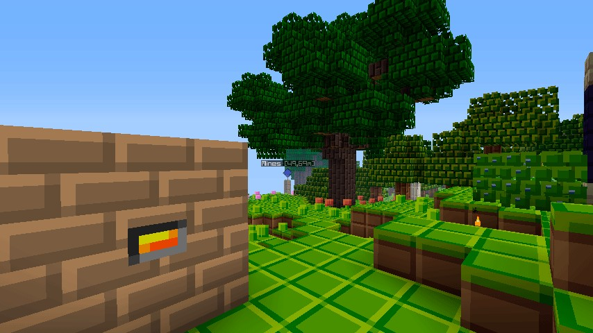 Railcraft Coke Oven, Thaumcraft Tree and FloraSoma Blueberry Bush