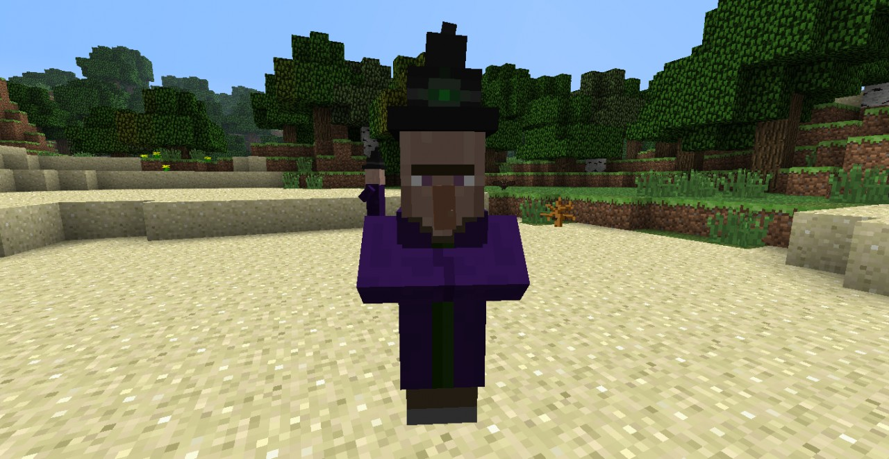 how to make a witch in minecraft