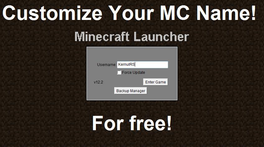Change And Customize Your Minecraft Name Minecraft Blog - Minecraft name andern login