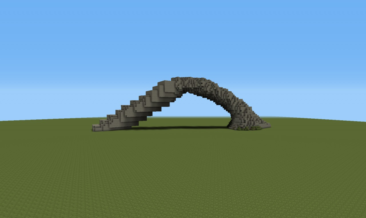 Simple arch created with the rectangle brush and cleaned up with erode and fill.