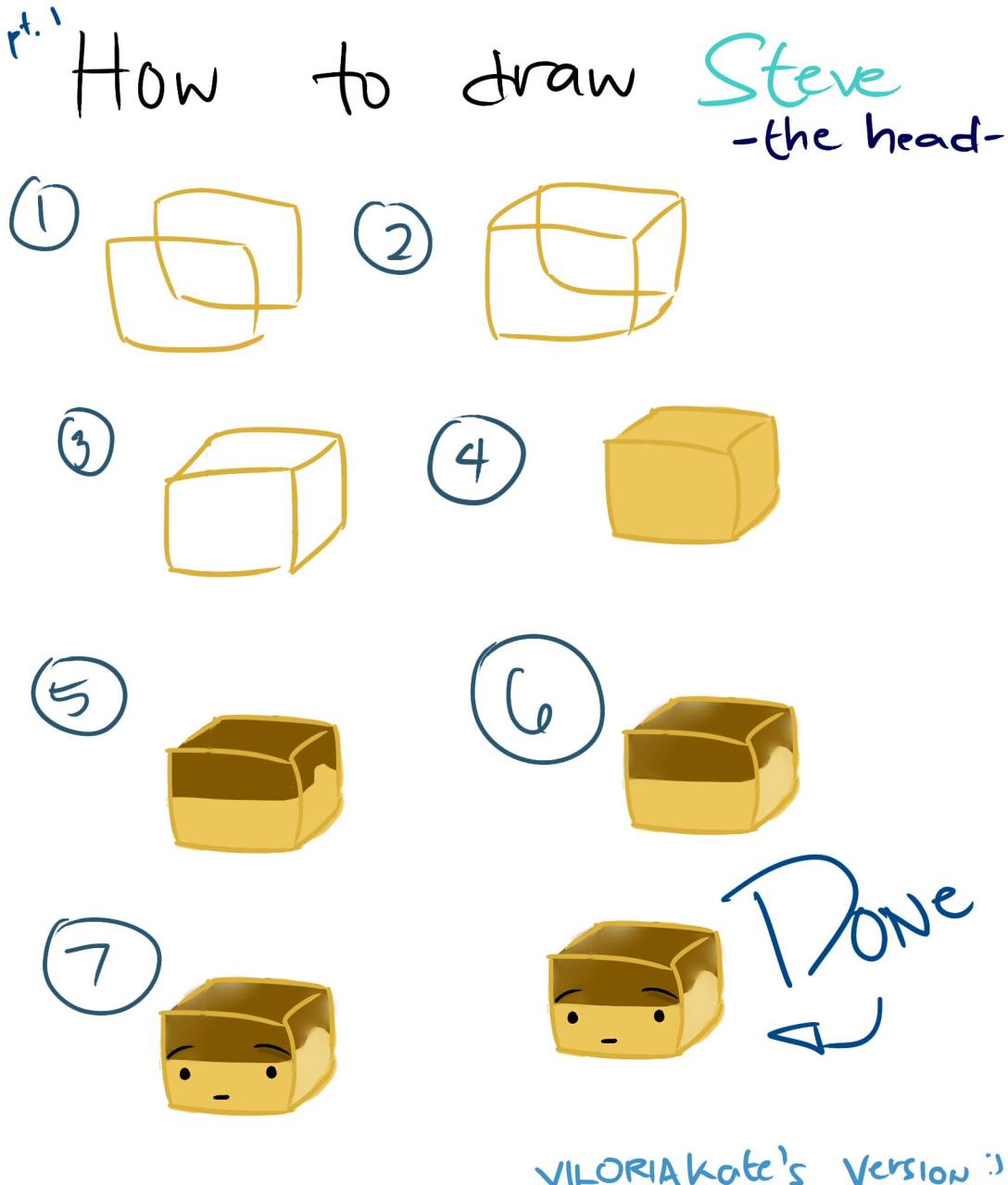 how to draw steve pt 1 minecraft blog