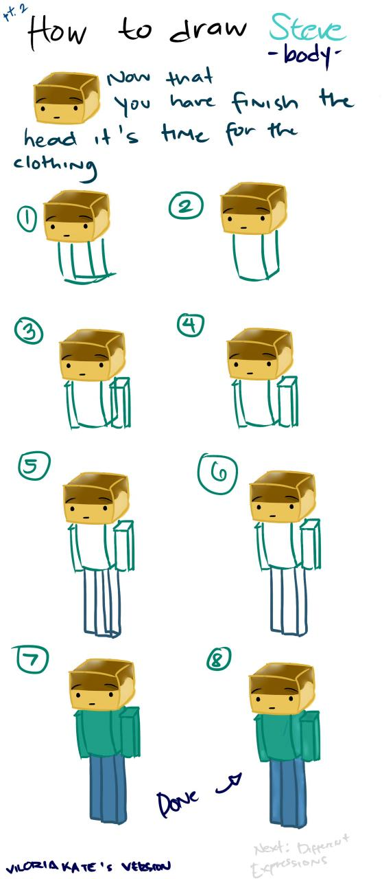 How to draw steve pt 2