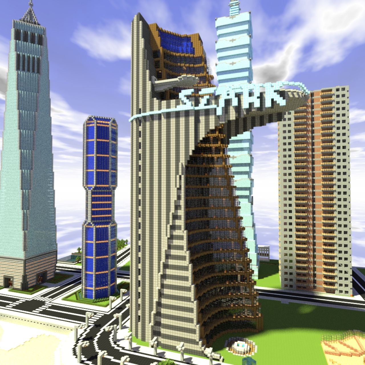 The Stark Tower From The Avengers Film An Exact Replica - Nyc map minecraft