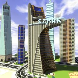 The Stark Tower From The Avengers Film (An Exact Replica!) Minecraft