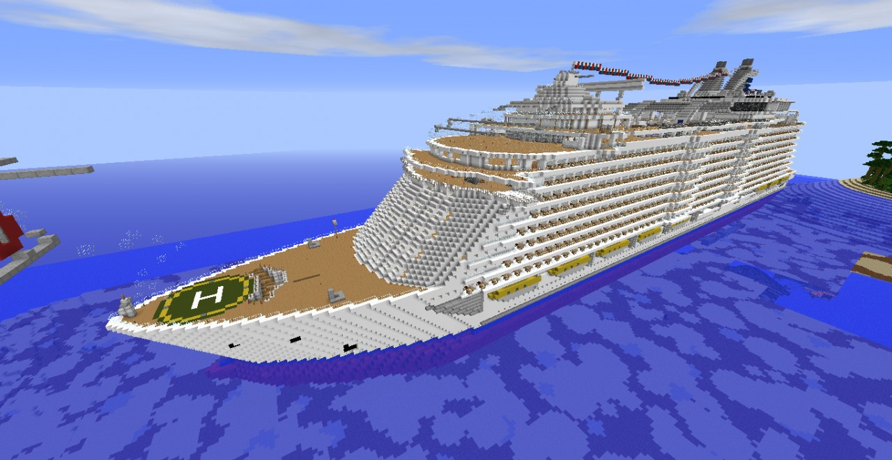 Oasis Of The Seas Cruise Ship Cruise Liner Minecraft Project - Cruise ship oasis of the seas