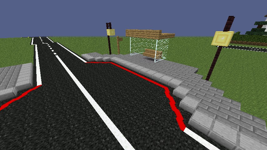 Bus Stations With Sidewalk Minecraft Project