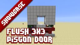 Flush! 3x3 piston door Minecraft