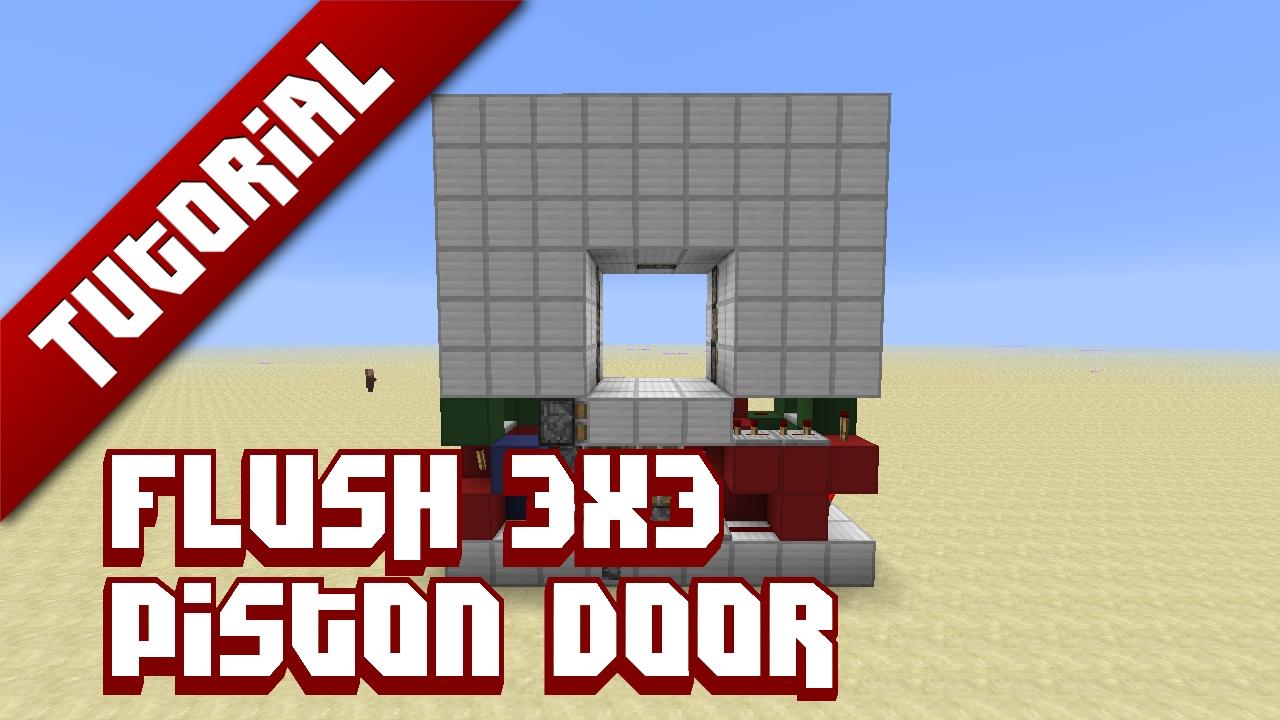 Minecraft How To Build A X Piston Door