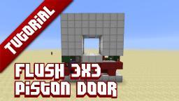 Flush 3x3 piston door tutorial Minecraft Blog