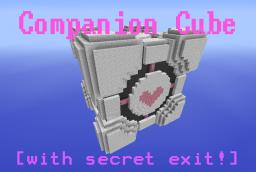 Companion Cube  [ Secret Entrance ] [ 13,761 block ] Minecraft Map & Project