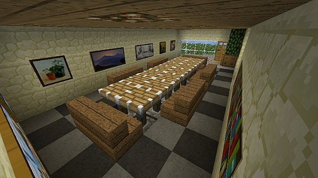 The highland residence 22x22 modern house minecraft project for Minecraft dining room designs