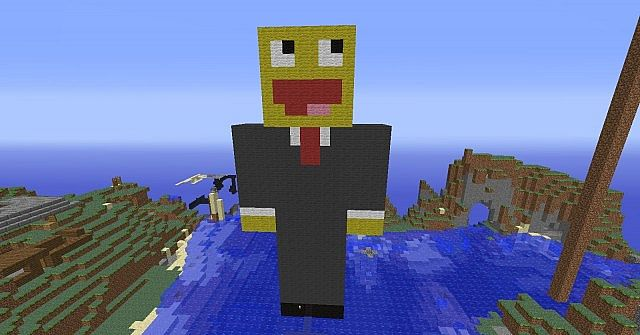 Minecraft Player Statues On Thel33t Minecraft Project