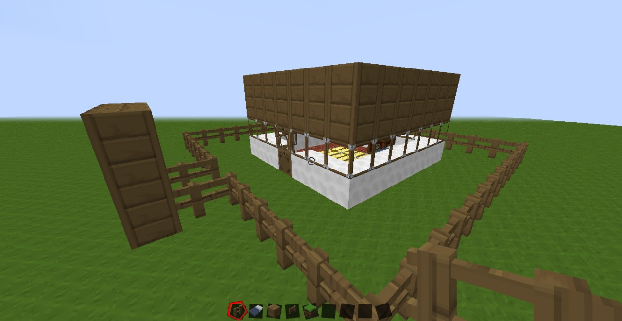 A Small 6x6 House Minecraft Project