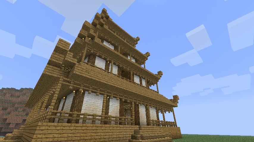 pagoda building blueprints minecraft blog - Minecraft Japanese Pagoda