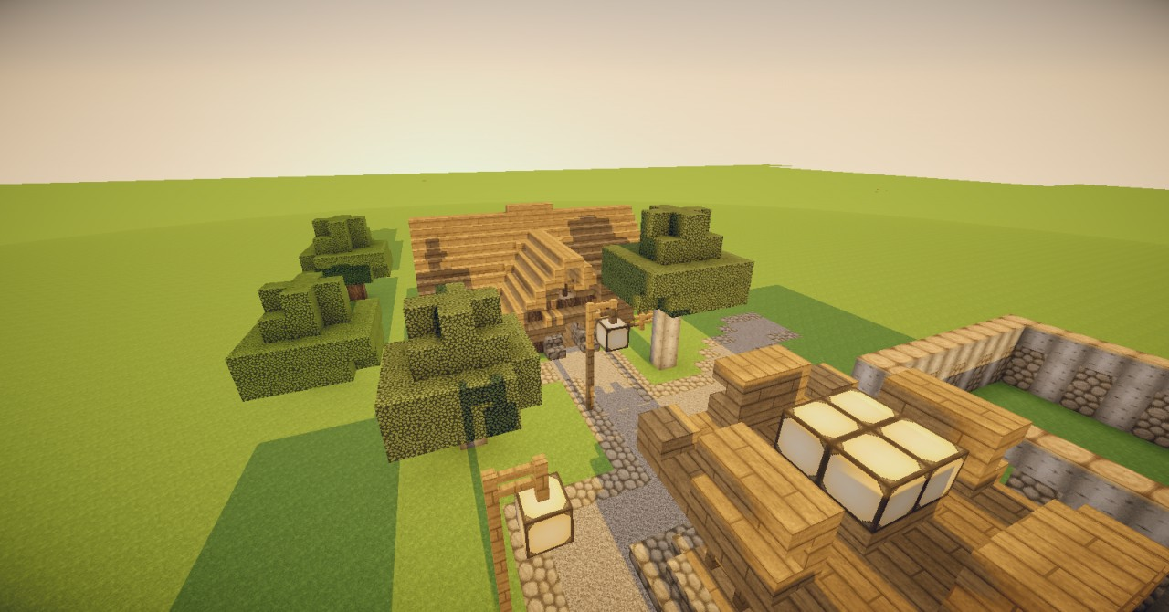 Piano 39 S Rustic Village Minecraft Project