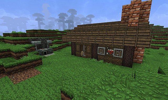 Colonial Style Log Cabin Minecraft Project