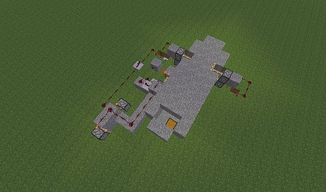A view of the redstone required to make this happen.
