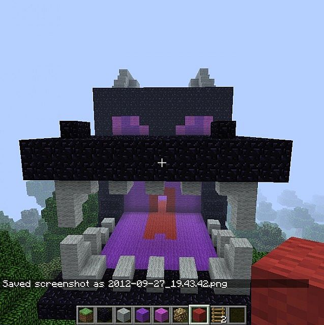 Minecraft Living Rooms: End Dragon Head House Minecraft Project