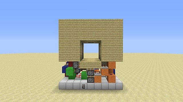Minecraft Piston Door 3x3 Minecraft Hidden 3x3 Piston