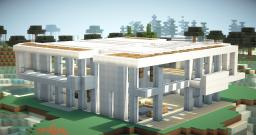 """Oraclia Modern House 9 """" The White Pearl """" Minecraft Map & Project"""